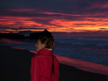 Sunset beach walks on your surf holiday at Boardingmania